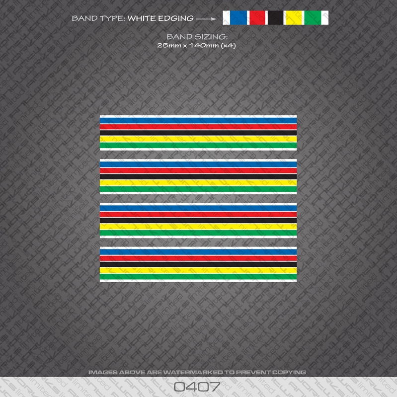 0407-World-Champion-Stripes-Bands-Bicycle-Decals-Stickers-White-Edges