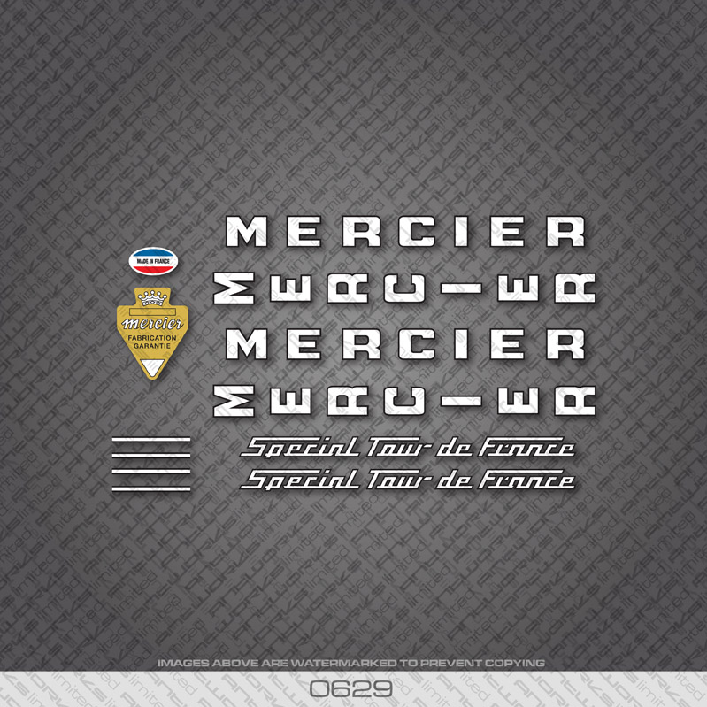 0629-Mercier-Special-Tour-De-France-Bicycle-Stickers-Decals-Transfers